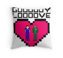 GUY LOVE Throw Pillow