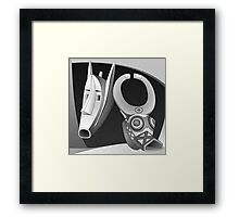 Two Masks Framed Print