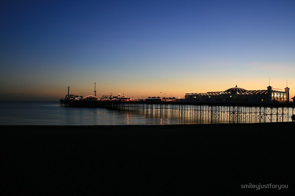 Brighton Pier Sunset by smileyjustforyou