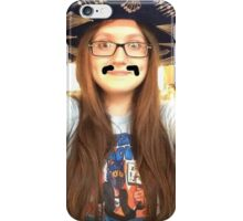 aleks' drawn on mustache-talia iPhone Case/Skin