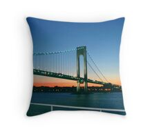 New York Entrance Throw Pillow