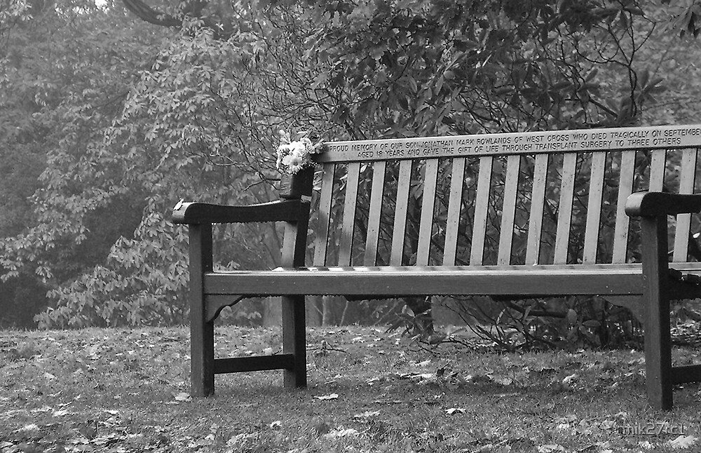 memorial bench by mik27rc1