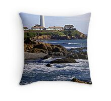 Pigeon Point Lighthouse Throw Pillow