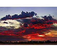 Sunrise Thunderstorm Photographic Print