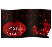 Merry Christmas with candles Poster