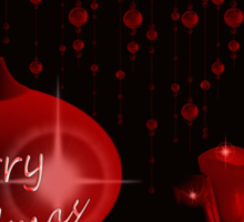 Merry Christmas with candles Sticker