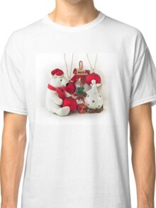 White Teddy Bear and angel Classic T-Shirt