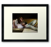 turn the page Framed Print