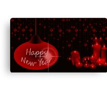 Happy New Year with candles Canvas Print