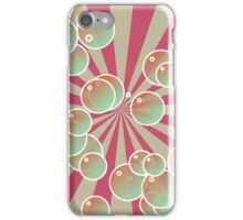 Bubbles on radial background iPhone Case/Skin