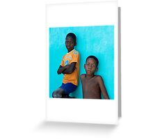 Boyz Greeting Card