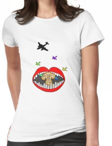 Crooked Teeth Womens Fitted T-Shirt