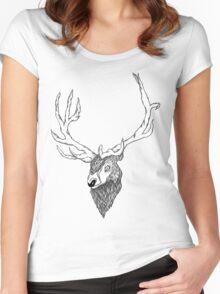 Elk's head Women's Fitted Scoop T-Shirt