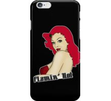 Flamin' Hot Rockabilly Pin Up iPhone Case/Skin