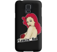 Flamin' Hot Rockabilly Pin Up Samsung Galaxy Case/Skin
