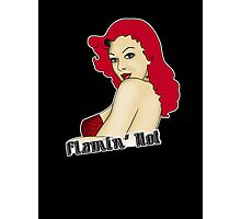 Flamin' Hot Rockabilly Pin Up Photographic Print