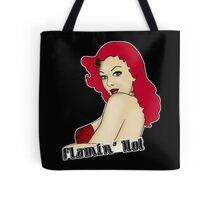 Flamin' Hot Rockabilly Pin Up Tote Bag