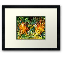 Paradise Revisited - Jungle Fire Framed Print
