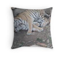 I love my bed! Throw Pillow