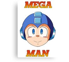 Mega Man Head Canvas Print
