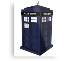 Tardis - Doctor Who Metal Print