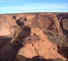 Looking upon Canyon De Chelly  by Summersfotos