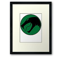 Slithering-Black Ring Framed Print