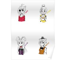 Five Nights at Freddy's Manga Girls (Separate) Poster