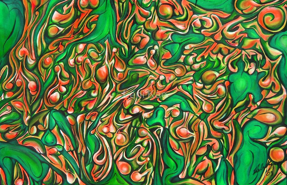 Orange Green Bodyscape by Leni Kae