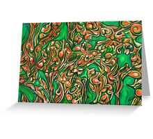 Orange Green Bodyscape Greeting Card