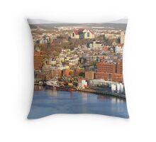 St. John's  Harbour Front  Throw Pillow