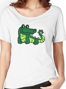 Comic crocodile Women's Relaxed Fit T-Shirt