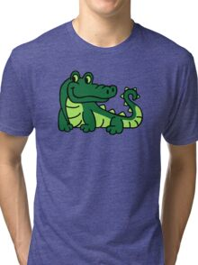 Comic crocodile Tri-blend T-Shirt