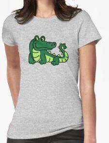 Comic crocodile Womens Fitted T-Shirt