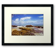 San Juan Rocky Beach, Puerto Rico Framed Print