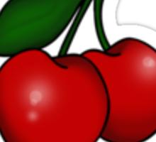 Kitsch Retro Cherries Sticker