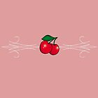 Pinstripes 'n' Cherries by Tee Brain Creative