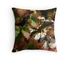 Astilbe Leaves & Gourd Throw Pillow
