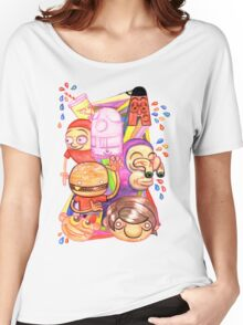 Bad Teeth Cartoon Party Women's Relaxed Fit T-Shirt