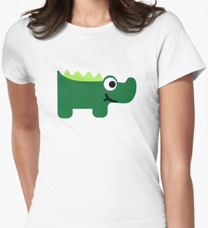 Green crocodile Womens Fitted T-Shirt