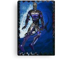 the blue man Canvas Print