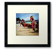 Thai Fishing Boats Framed Print