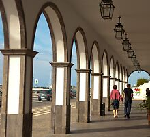 Street with arches by Gaspar Avila