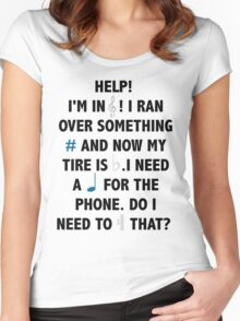 Help! I'm in Treble! Women's Fitted Scoop T-Shirt