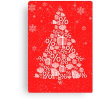 Christmas tree discount Canvas Print