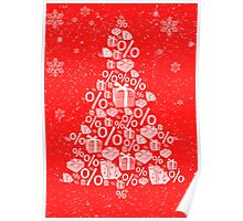 Christmas tree discount Poster