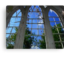 Looking up to Heaven from inside God's House Canvas Print