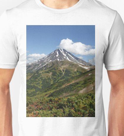 Summer panorama of volcanic landscape in Kamchatka Peninsula Unisex T-Shirt