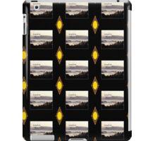 foggy sunrise, Columbia River, Oregon, Haiku black sun  iPad Case/Skin
