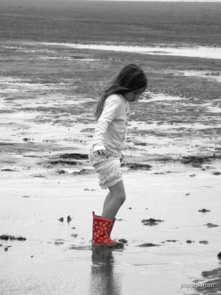 On the beach by poppykitten